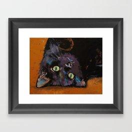 Upside Down Kitten Framed Art Print