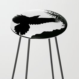 Raven & Forest circular silhouette Counter Stool