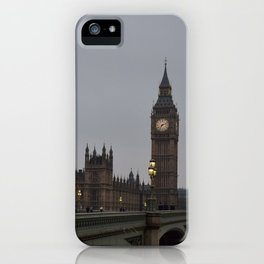 Grey day in Westminster iPhone Case