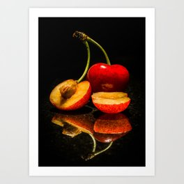 Fruit split Art Print