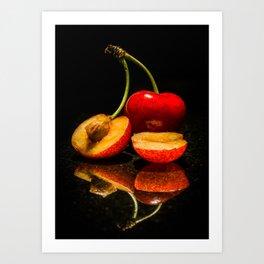 Fruit split Art Print