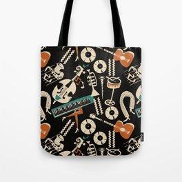 Jazz Rhythm (negative) Tote Bag
