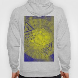 Abstract risk of electric shock Hoody