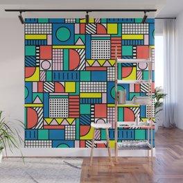 Memphis Color Block Wall Mural