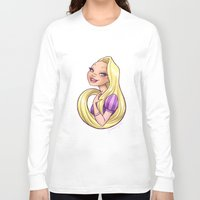rapunzel Long Sleeve T-shirts featuring Rapunzel by Genevieve Kay