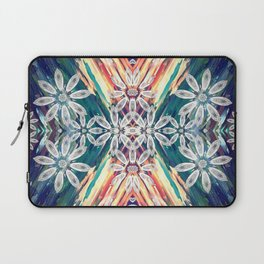 Abstract Retro Flower Design Laptop Sleeve