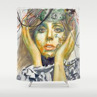 artrave Shower Curtains featuring ARTPOP by Abhivision