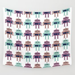Vintage Toy Robots Wall Tapestry