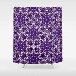 Bohemian Purple Fancy Tile Shower Curtain