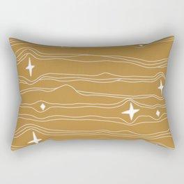 star fabric gold Rectangular Pillow
