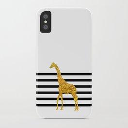 Gold Giraffe iPhone Case