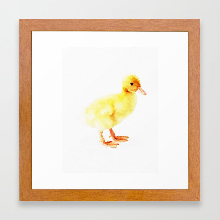 Duckling Watercolor Baby Duck Framed Art Print By Huntleigh Society6