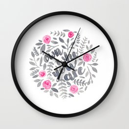 Own Who You Are Wall Clock