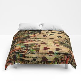 Abstract Vintage Playing cards  Digital Art Comforters