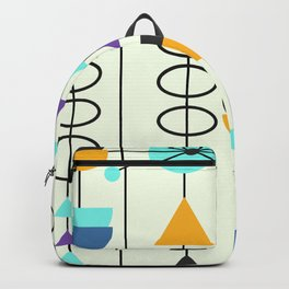 Kitty mid-century decor Backpack