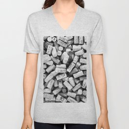 Something Nostalgic II Twist-off Wine Corks in Black And White #decor #society6 #buyart Unisex V-Neck