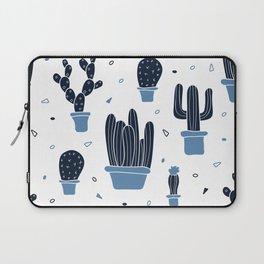 Cactus Plants Pattern- Blue Laptop Sleeve