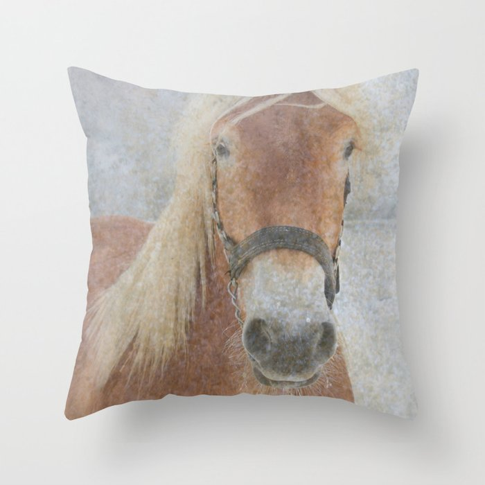 Winter Horse - JUSTART (c) Throw Pillow