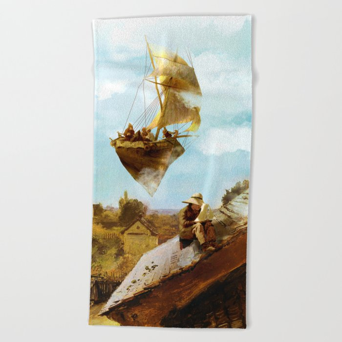 Sky Fishermen Beach Towel