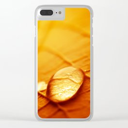 Tears of autumn Clear iPhone Case