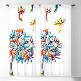 Popart dandelion Blackout Curtain