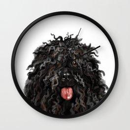Black Puli Dog Wall Clock