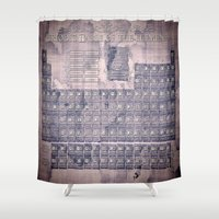 periodic table Shower Curtains featuring periodic table of elements by Bekim ART