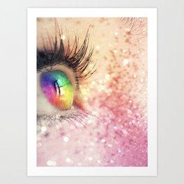 Rainbow Fairy Art Print