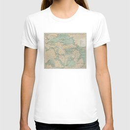 Vintage Great Lakes Lighthouse Map (1898) T-shirt