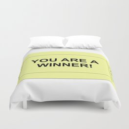 Ticket Yellow Duvet Cover