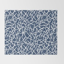 Kerplunk Navy and White Throw Blanket