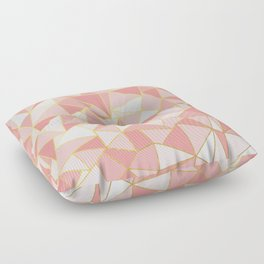 Ab Out Blush Gold Floor Pillow