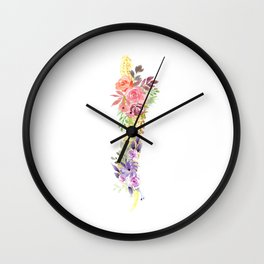Floral Spine Anatomy  Wall Clock