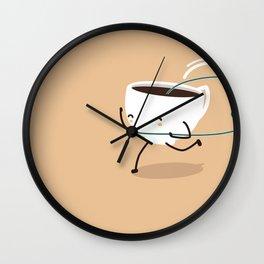 Seb, the cup of coffee Wall Clock