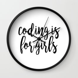 Coding is for Girls Wall Clock