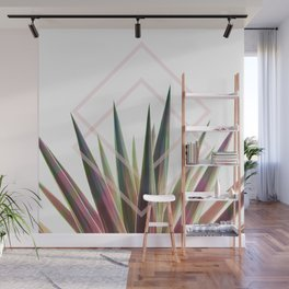 Tropical Desire - Foliage and geometry Wall Mural