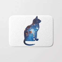 cosmic cat triangle Bath Mat