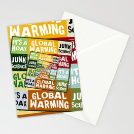 Global Warming Fraud Stationery Cards