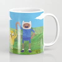 finn and jake Mugs featuring Finn And Jake! by Ben Morgan