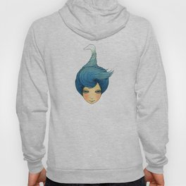 the girl with swan hair Hoody