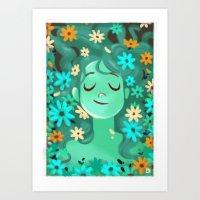 Spring girl V2 Art Print