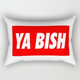 Ya Bish Typography Rectangular Pillow