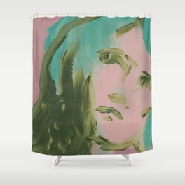 Looking At You, in Pink Shower Curtain