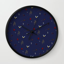 Quidditch Pattern - Ravenclaw Wall Clock
