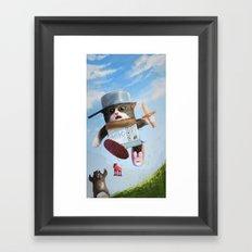 Cat knight Framed Art Print