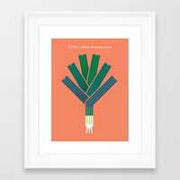 vegetable Framed Art Prints featuring Vegetable: Leek by Christopher Dina