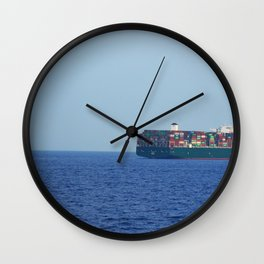 Athens Freighter Wall Clock