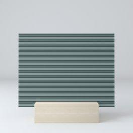 Scarborough Green PPG1145-5 Horizontal Stripes Pattern 1 on Night Watch PPG1145-7 Mini Art Print