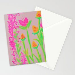 NEON BLOOM  Stationery Cards