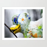 duck Art Prints featuring Duck  by LoRo  Art & Pictures